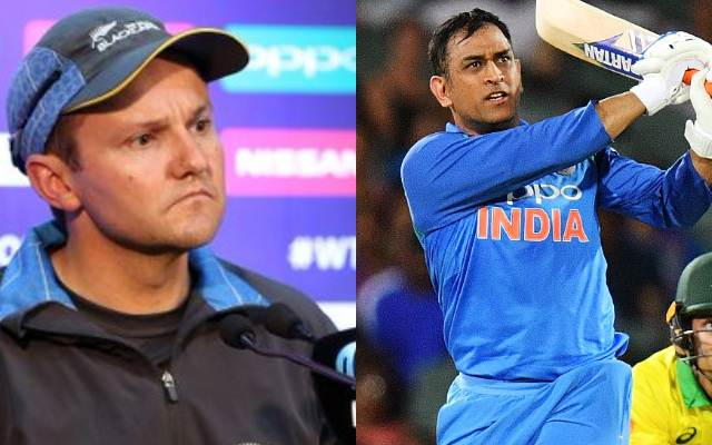 Mike Hesson and MS Dhoni