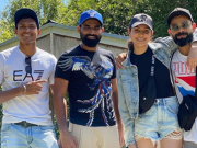 Navdeep Saini, Mohammed Shami, Anushka Sharma and Virat Kohli