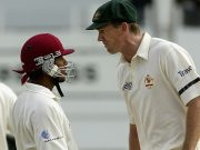 Ramnaresh Sarwan and Glenn McGrath