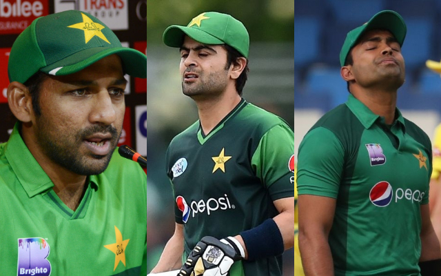 Sarfraz Ahmed, Ahmed Shehzad and Umar Akmal