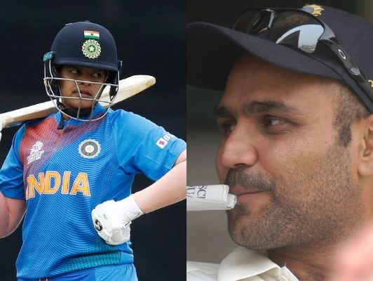 Shafali Verma and Virender Sehwag