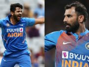 Shardul Thakur and Mohammed Shami