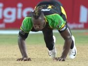 Andre Russell's push-ups