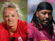Danielle Wyatt and Chris Gayle