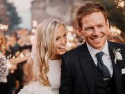 Eoin Morgan and Tara Ridgway
