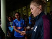 Harmanpreet Kaur and Heather Knight