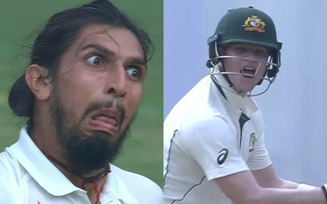 Ishant Sharma and Steve Smith