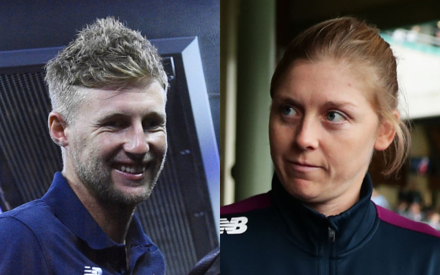 Joe Root and Heather Knight