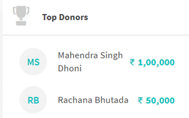 Trolling of followers on Dhoni's donation, spouse Sakshi gave a befitting reply