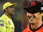 MS Dhoni and Brad Hogg