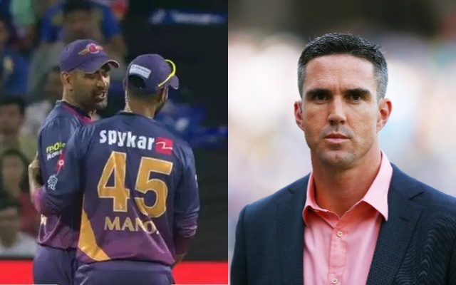 MS Dhoni and Kevin Pietersen