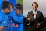 Shafali Verma and Brett Lee
