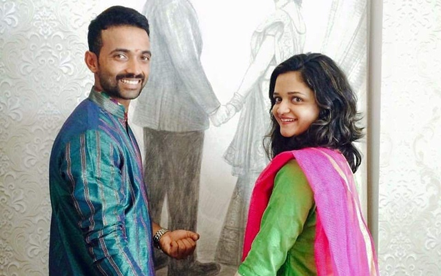 Ajinkya Rahane and his wife Radhika