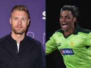 Andrew Flintoff and Shoaib AKhtar