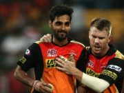 Bhuvneshwar Kumar and David Warner