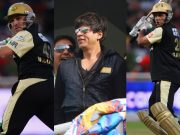 Brendon McCullum, Sharukh Khan and Sourav Ganguly