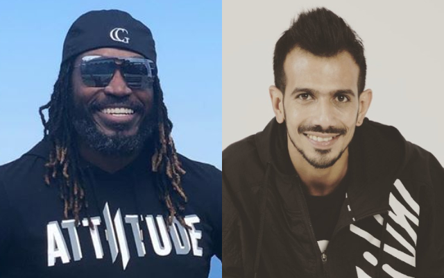 Chris Gayle and Yuzvendra Chahal