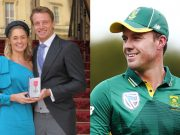 Jos Buttler, his wife and AB de Villiers