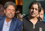 Kapil Dev and Shoaib Akhtar