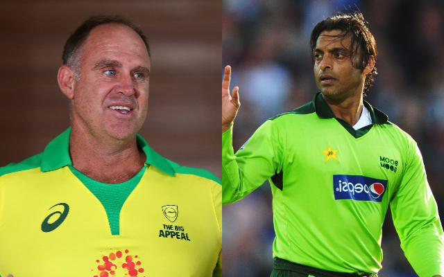 Matthew Hayden and Shoaib Akhtar