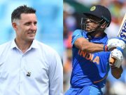 Michael Hussey and MS Dhoni
