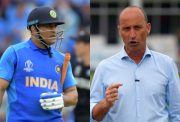 Nasser Hussain and MS Dhoni