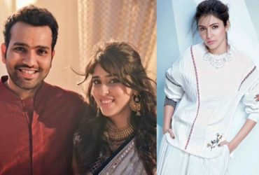 Rohit Sharma, Ritika Sajdeh and Anushka Sharma