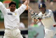 Saqlain Mushtaq and Sachin Tendulkar