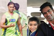 Shoaib Akhtar, Mohammad Kaif and his son