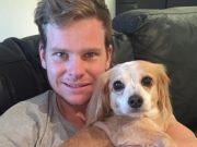Steve Smith and his dog