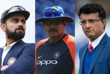 Virat Kohli, Ravi Shastri and Sourav Ganguly