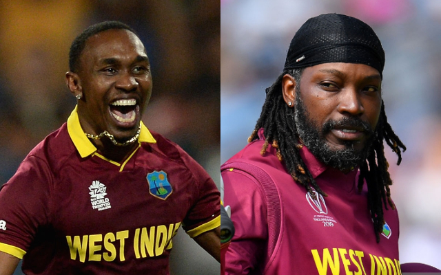 Dwayne Bravo and Chris Gayle