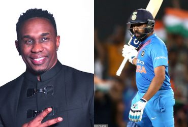 Dwayne Bravo and Rohit Sharma