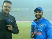 Ravi Shastri and Rohit Sharma