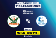 VincyT10-11Wickets-Fort Charlotte Strikers vs Salt Pond Breakers-Match-5
