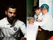 Virat Kohli and his father Prem Kohli