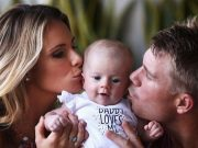 David Warner, Candice Warner and Ivy Mae