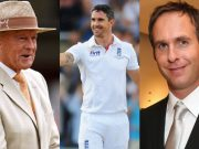 Geoffrey Boycott, Kevin Pietersen and Michael Vaughan
