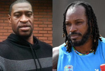 George Floyd and Chris Gayle