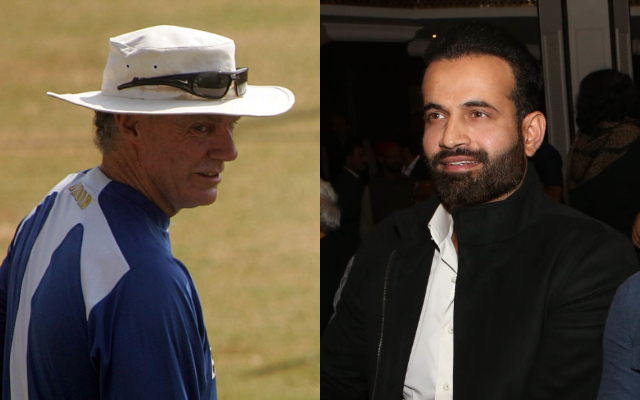 Greg Chappel and Irfan Pathan
