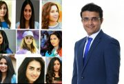 Indian cricketers and Sourav Ganguly