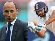 Nasser Hussain and Rohit Sharma