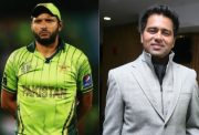 Shahid Afridi and Aakash Chopra