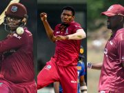 Shimron Hetmyer, Keemo Paul and Darren Bravo