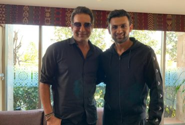 Wasim Akram and Shoaib Malik