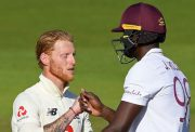 Ben Stokes congratulates Jason Holder