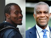 Jofra Archer and Michael Holding