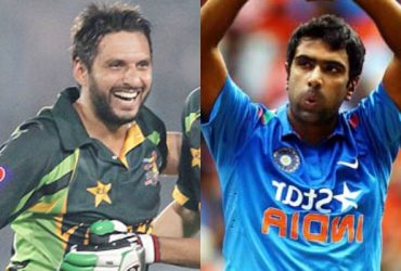 Shahid Afridi and Ravichandran Ashwin