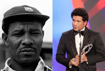 Sir Everton Weekes and Sachin Tendulkar