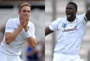 Stuart Broad and Jason Holder